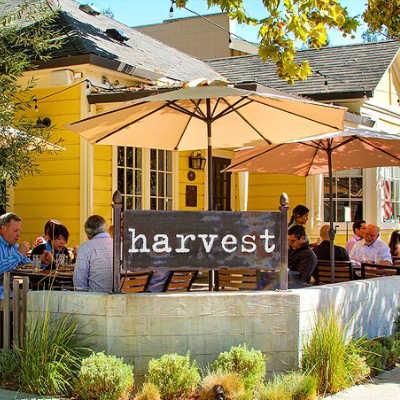 front of Danville Harvest restaurant, Danville, CA