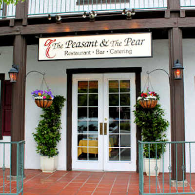 Double door entry to the Peasant & Pear Restaurant, Danville, CA