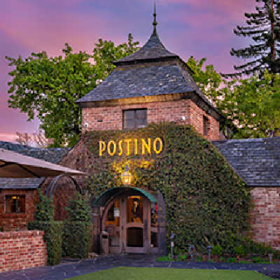 stunning entry to Postino Restaurant, Lafayette, CA