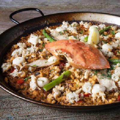 Mediterranean Crab Paella