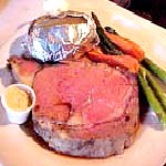 """Sunday Dinner To-Go For Two,"" Prime Rib and Bottle of House Wine $48"