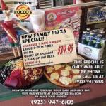 Family Pizza Special $39.95