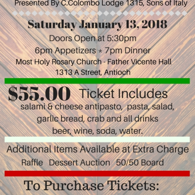 SONS OF ITALY CRAB FEED
