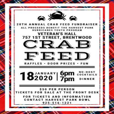 20th Annual Hurricane Crab Feed
