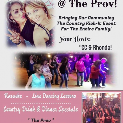 """The Country KickIt Event"" Line Dancing Lessons, DJ/Karaoke, All Ages"