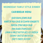 WEDNESDAY FAMILY BUFFET CARIBBEAN CUISINE NIGHT