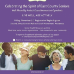 CELEBRATING THE SPIRIT OF EAST COUNTY SENIORS WALK HOSTED BY ANTIOCH COUNCILWOMAN LORI OGORCHOCK