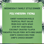 WEDNESDAY FAMILY BUFFET POLYNESIAN NIGHT