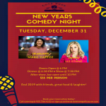 New Years Eve Comedy Dinner Show!