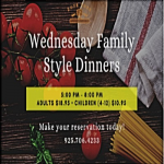 Wednesday Family Style Dinners